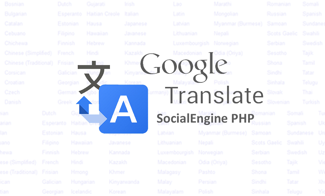 Google Translator for SocialEngine