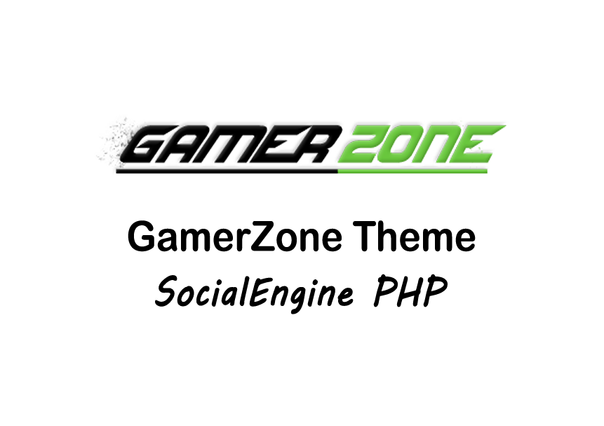 Gamer Zone Theme for SocialEngine
